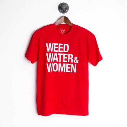 CRAZY COMMONWEALTH - Weed Water And Women T-Shirt